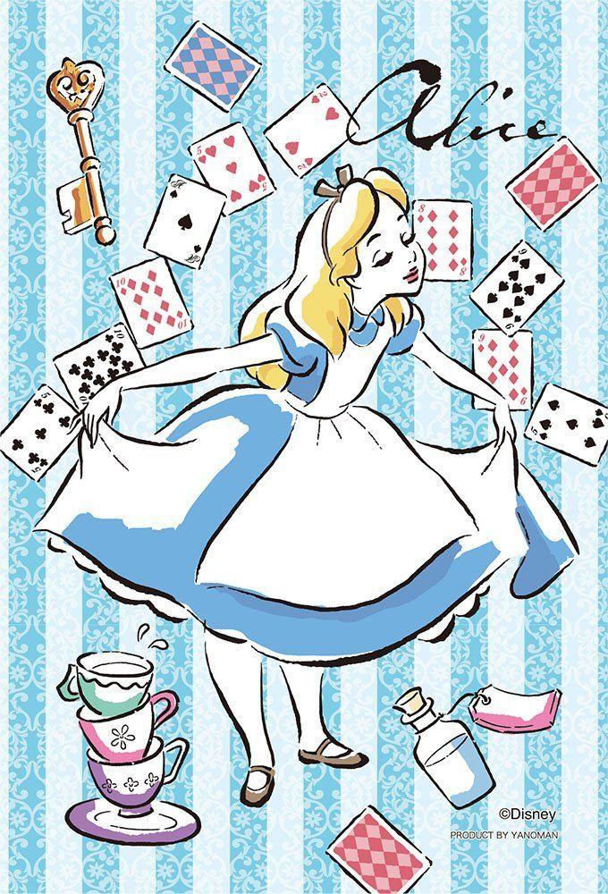 70ピース ジグソーパズル プリズムアートプチ アリス Alice 10x14 7cm ディズニー アリス トランプ イラスト アリス トランプ