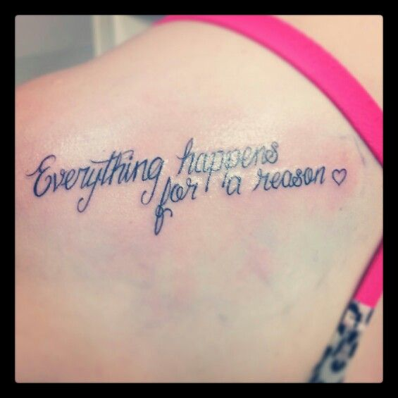 Everything happens for a reason 3 inkspiration pinterest everything happens for a reason urmus Image collections