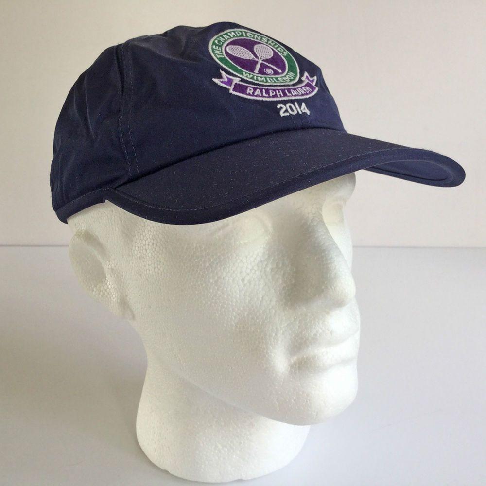 Polo Ralph Lauren Tennis Cap. Navy Blue Wimbledon 2014 Vented Hat + White  Pony