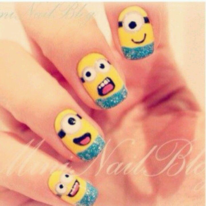 Dispicable me nails for the movie.