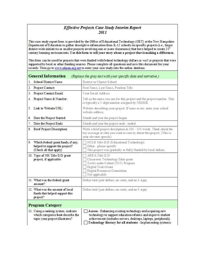 The Remarkable 49 Free Case Study Templates Case Study Format Examples Regarding Research Report Sampl Case Study Format Case Study Template Case Study