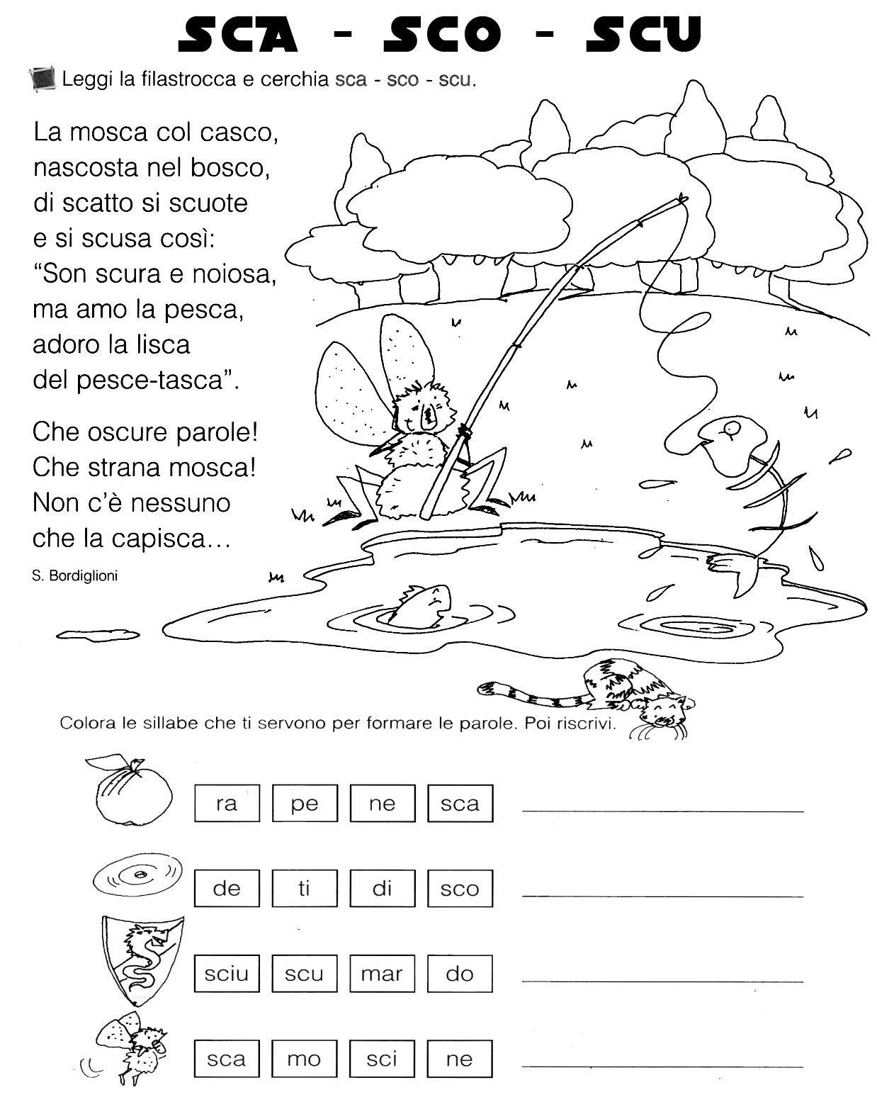 Sca Sco Scu Ortografia Learning Italian Italian Lessons E