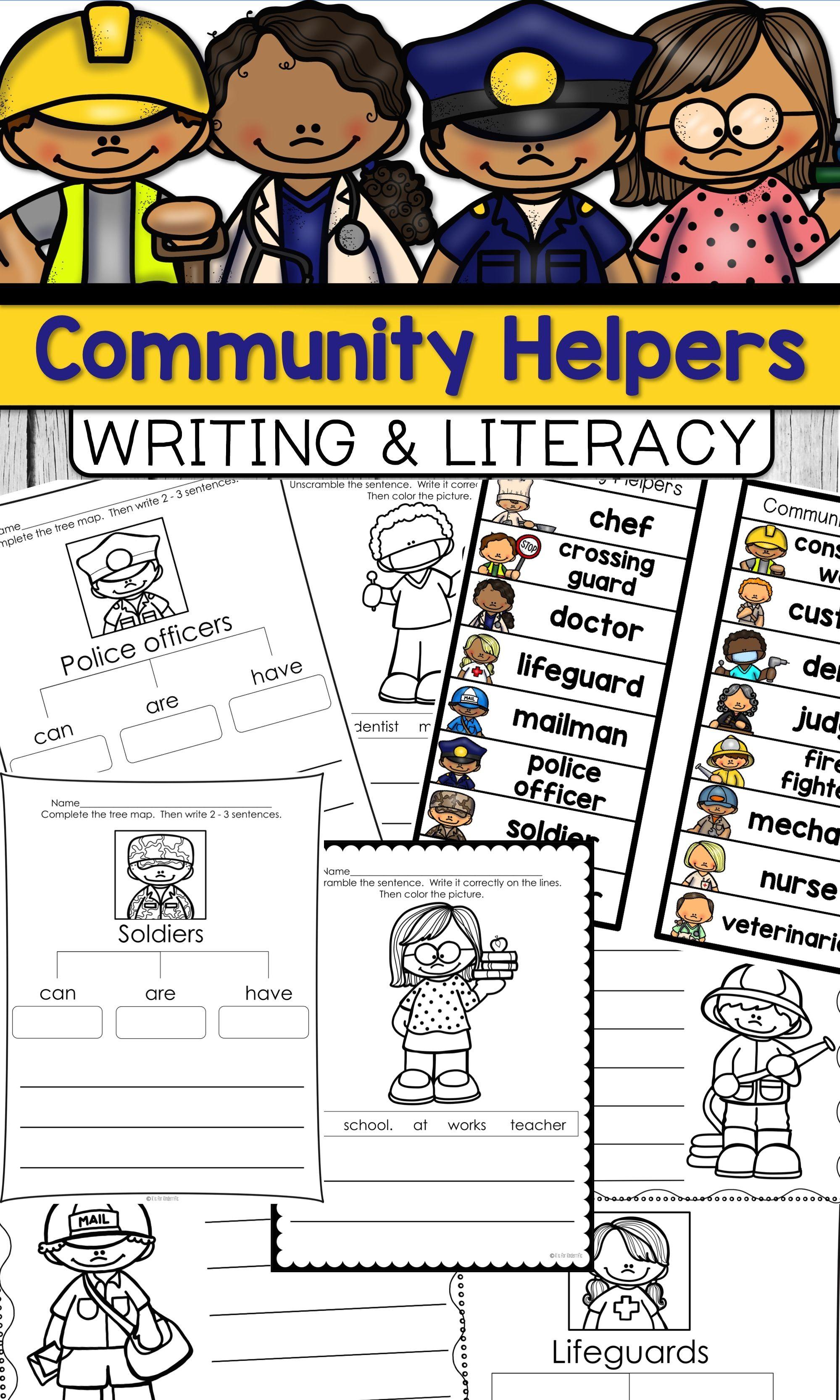 Community Helpers Writing