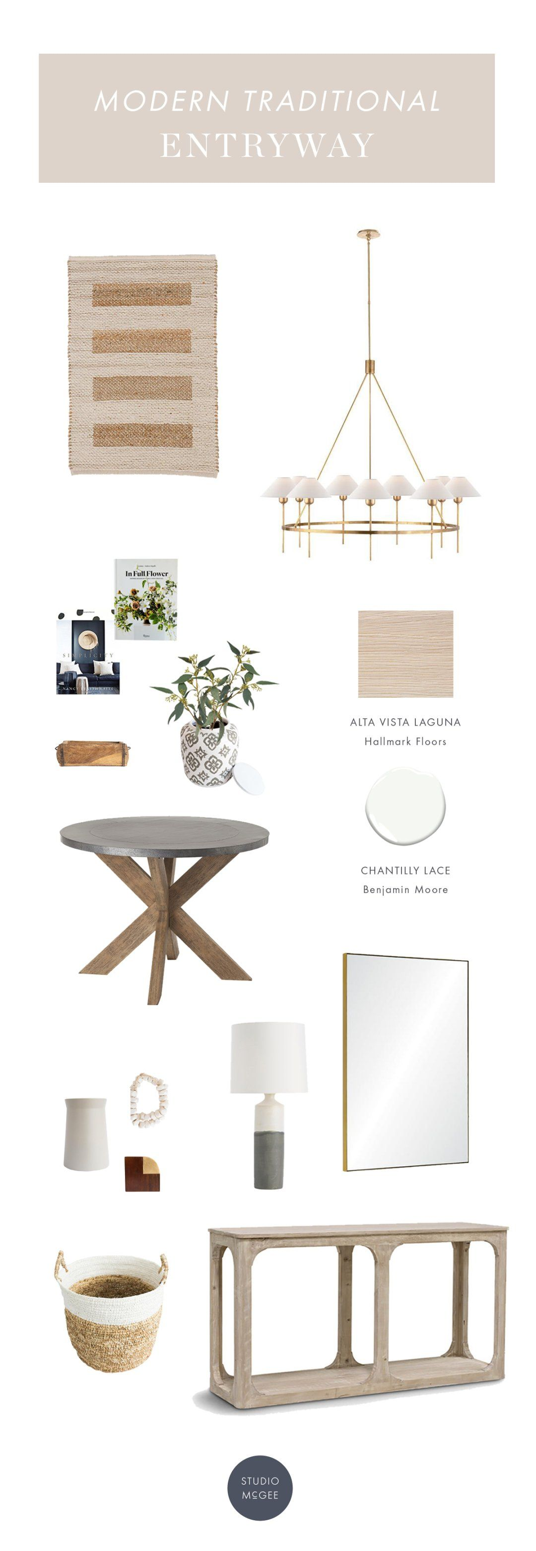 Get the look: a modern traditional entryway | Riverbottoms Entryway Webisode