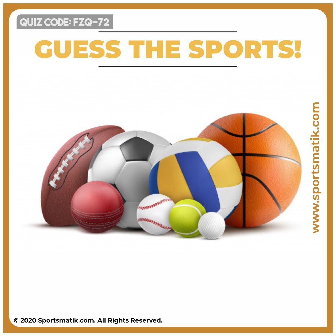 Guess sports! in 2020 Sports quiz, Sports website, Sports