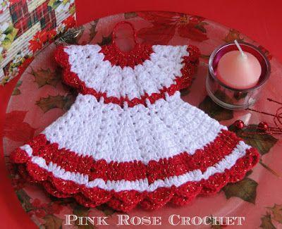 d8fc0d64a Pega Panelas Vestidinho Festivo Dress Pot Holders | Minhas artes