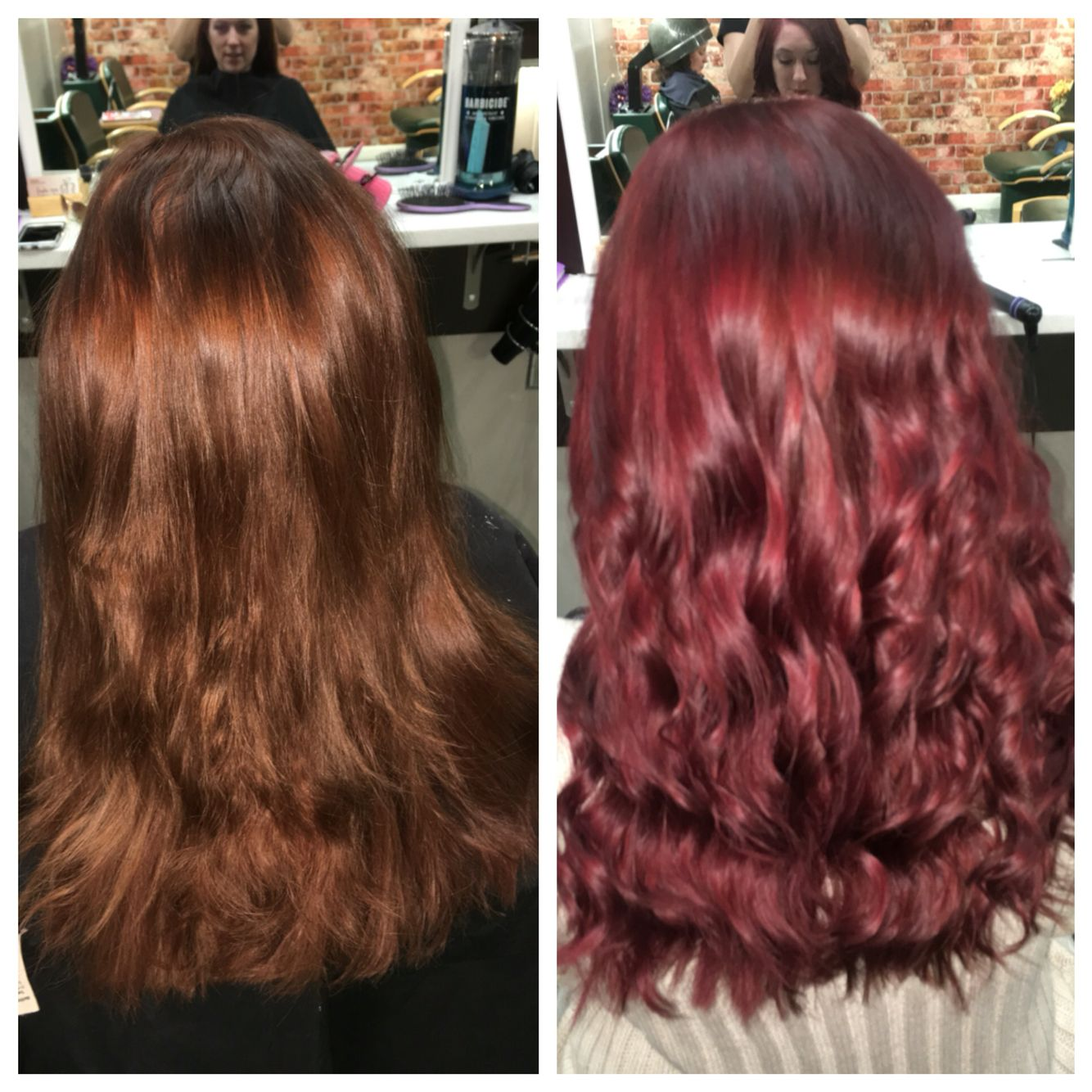 Red pravana with wild orchid and purple added in hair pinterest