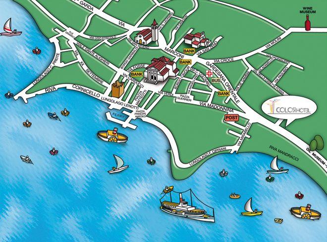 Bardolino Stadtplan