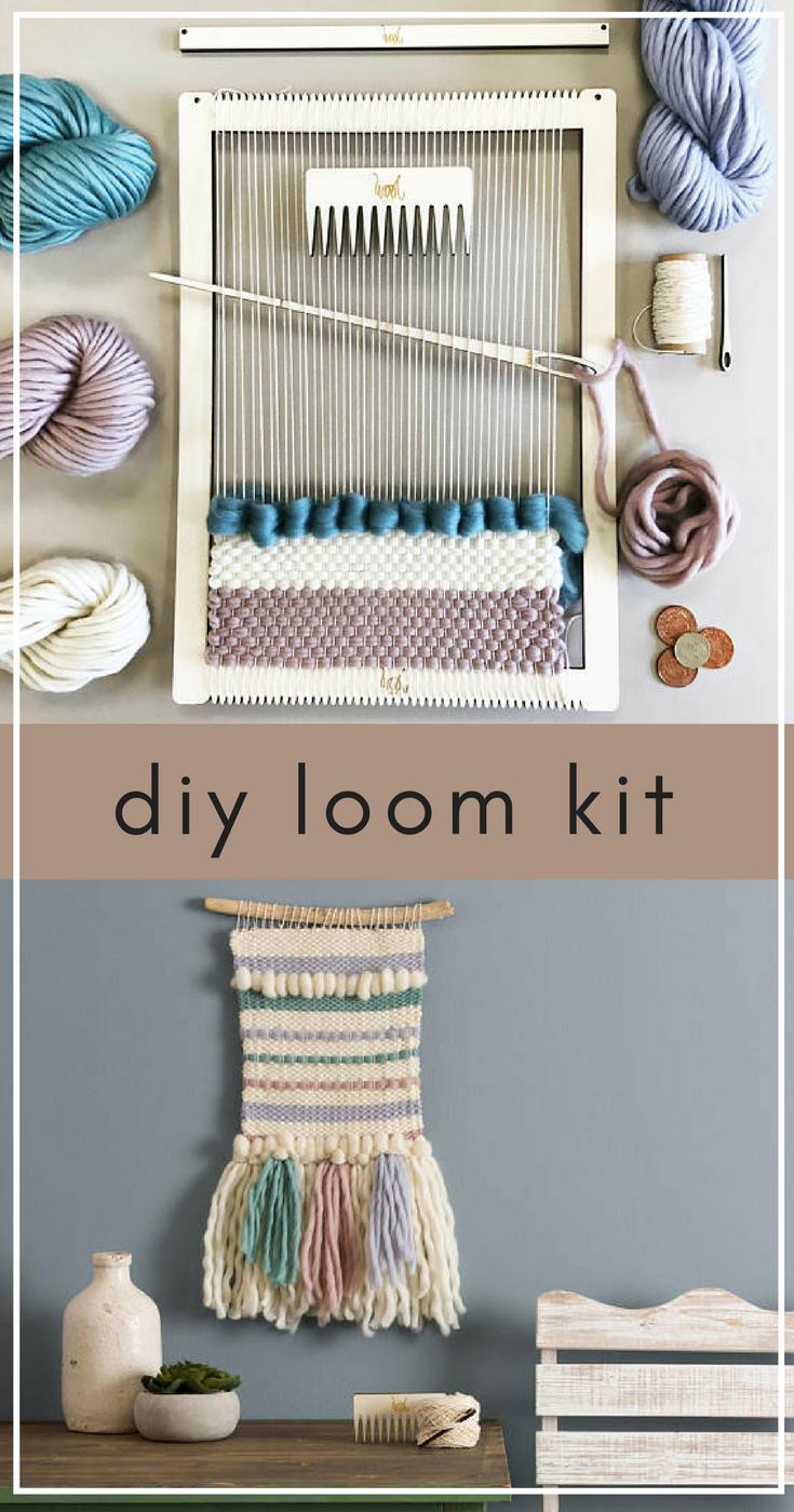 Weaving Loom Kit Diy Large Lap Loom Learn To Weave