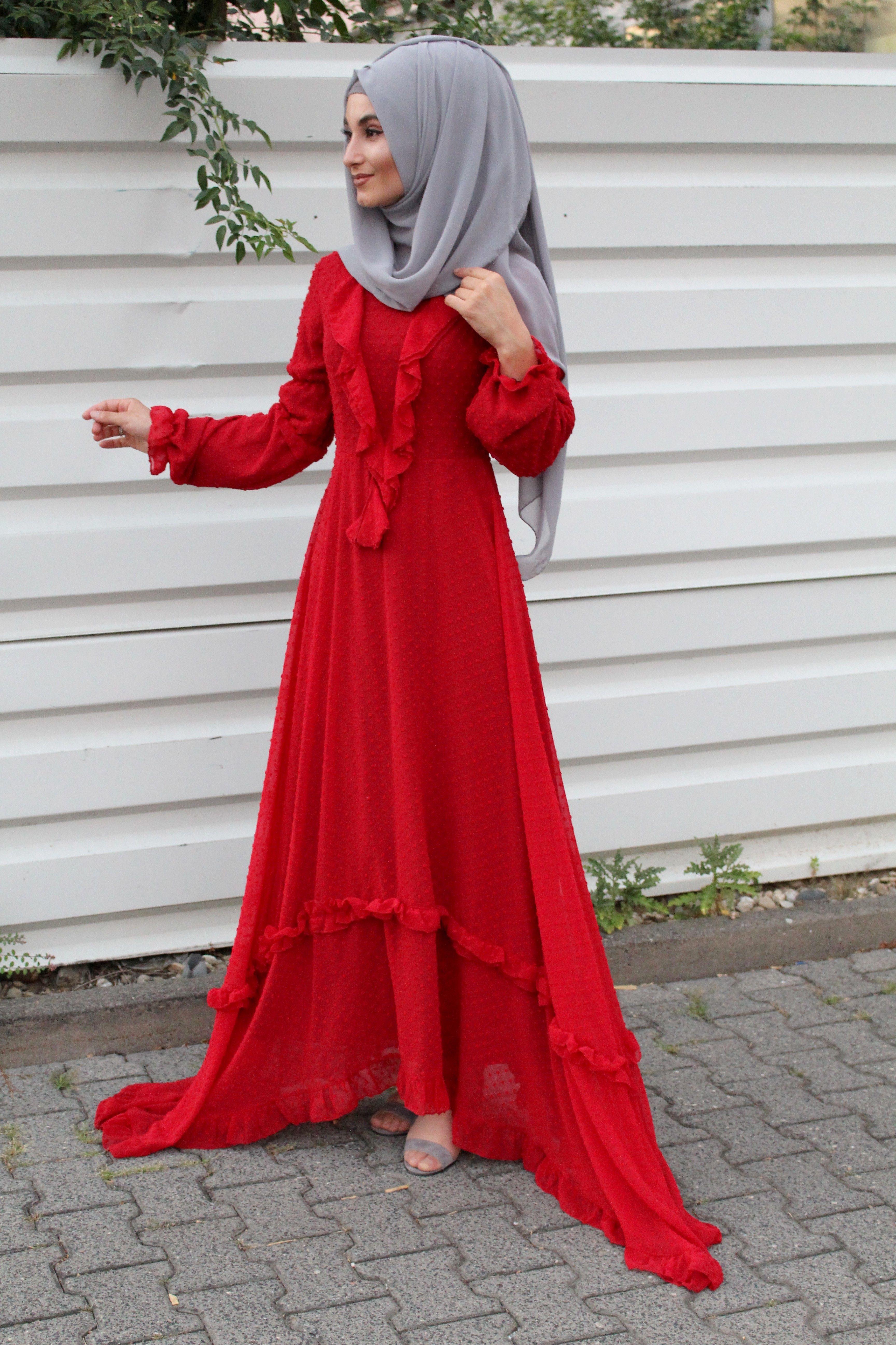 Red Dress Hijab Outfit Ideas Long Dress Fashion Muslimah Fashion Outfits Modest Dresses [ 5184 x 3456 Pixel ]