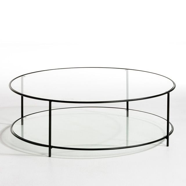Table Basse Ronde Verre Trempe Sybil Table Basse Ronde En Verre Table Basse Ronde Table Basse En Verre Noir