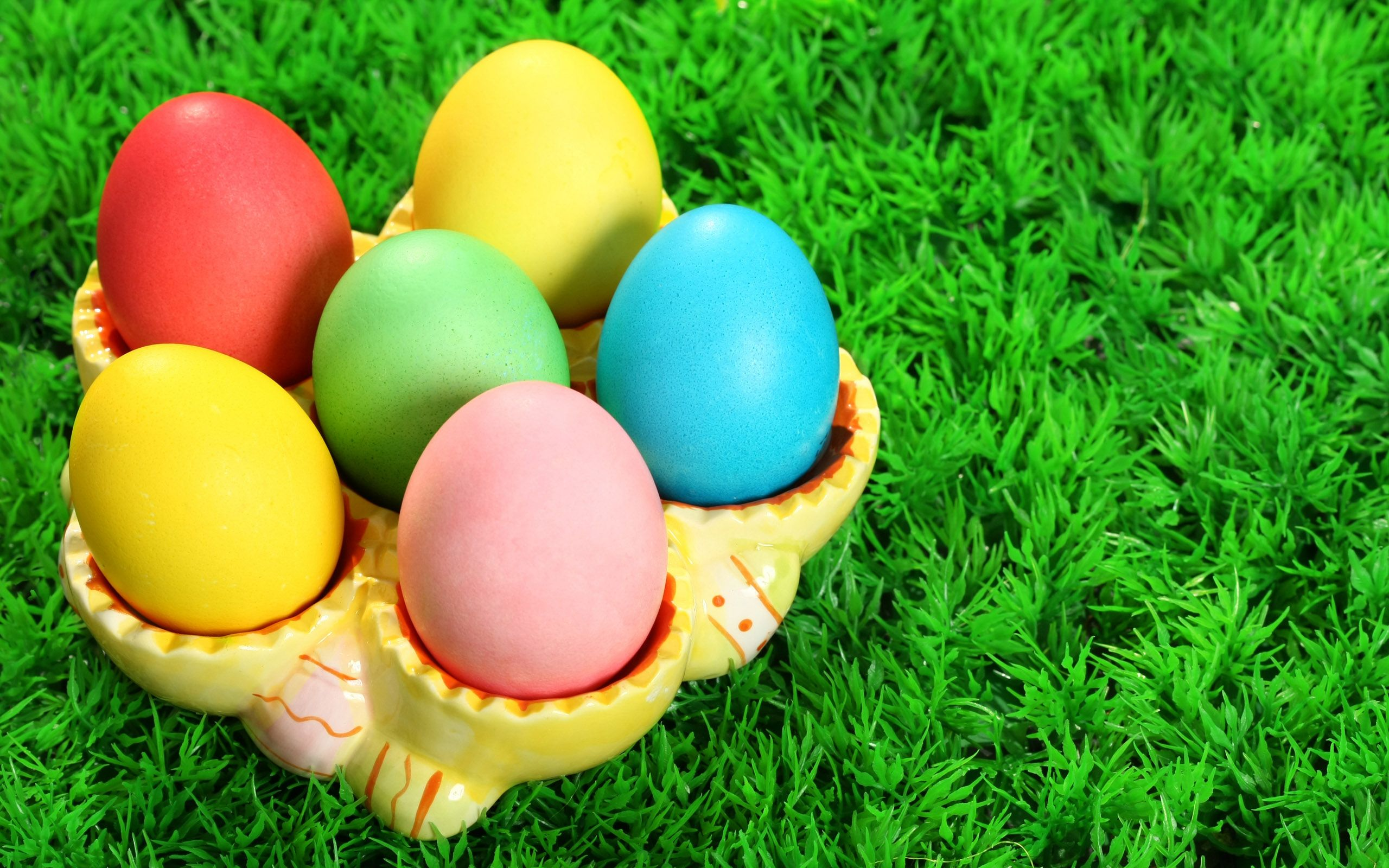 Easter · Colorful Eggs Wallpaper ...