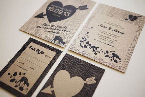 Diy Printable Wedding Invitations Rustic By