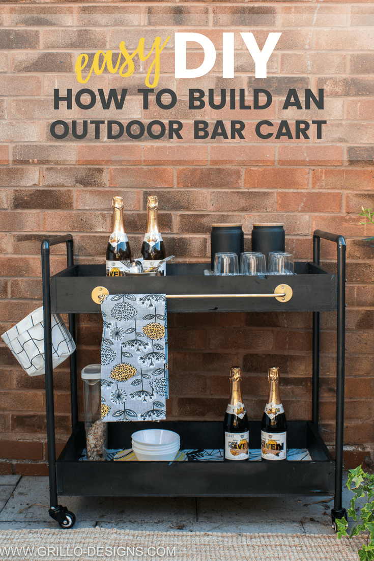Photo of EASY DIY: How to Build a Rolling bar cart