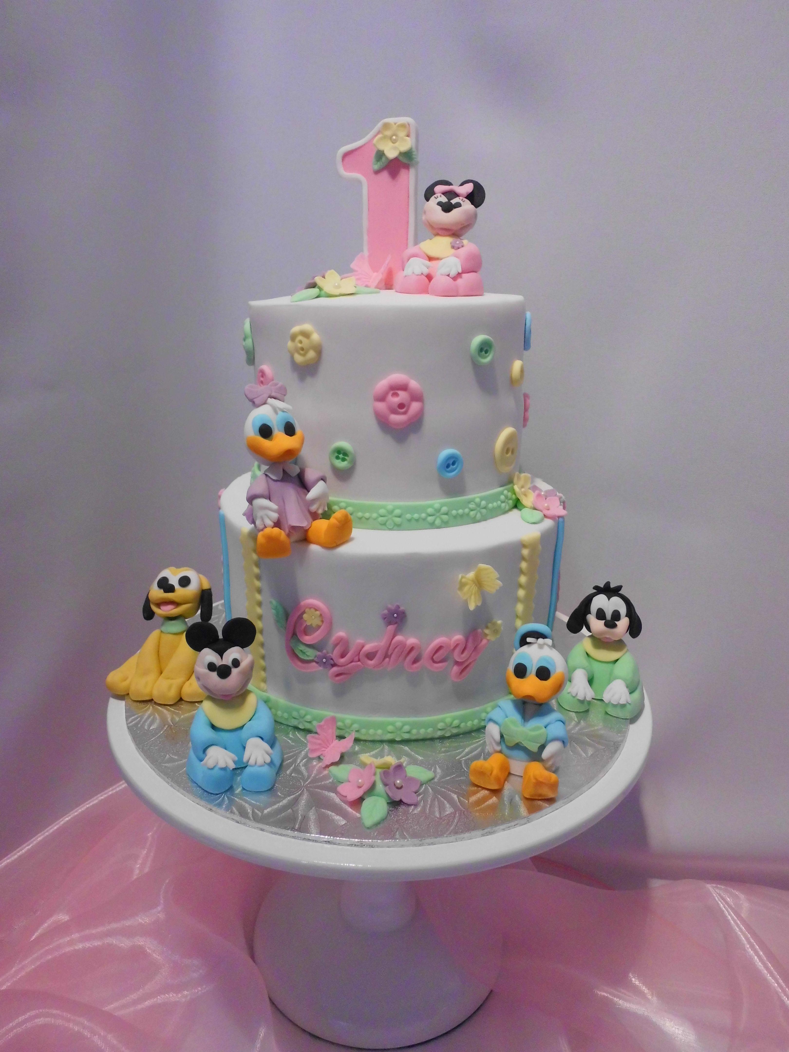 Disney Babies First Birthday Cake