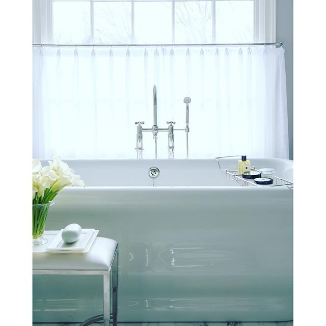Sunday\'s are for Relaxing...bathroom by #samalleninteriors ...