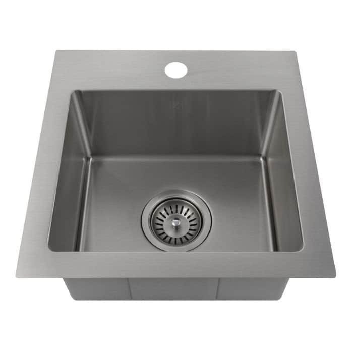 Zline 15 Inch Topmount Single Bowl Bar Sink In Stainless Steel Silver Zline Kitchen And Bath In 2019 Sink Kitchen Bath Drop In Kitchen Sink