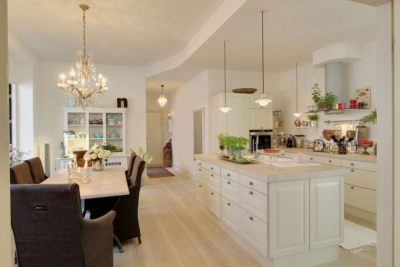 Cocina y comedor integrados | casa | Pinterest | Comedores, Cocinas ...