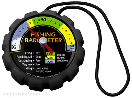 I have known for a while that the barometric pressure affects fishing, but I always forget how. Every time I want to use the barometric pressure to figure out how fishing will be, I had to spend a ...