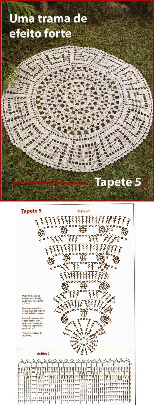 By Adelia Ernst Oechsler - I really like this crochet rug ...