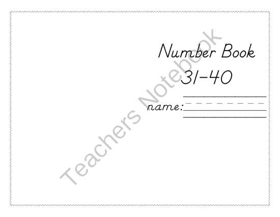 Number Writing 31-40 from Ms. Moss Kindergarten Matron on
