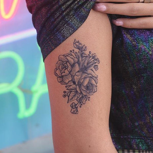 Bouquet Tattoo - Semi-Permanent Tattoos by inkbox™