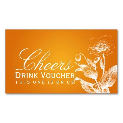 elegant drink voucher poppy orange