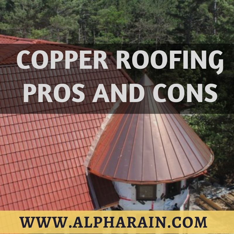 The Copper Roof Shingles Installed By Alpha Rain Are Designed Based On The Traditional Roofing In The Past Copper Roof Residential Metal Roofing Roof Shingles