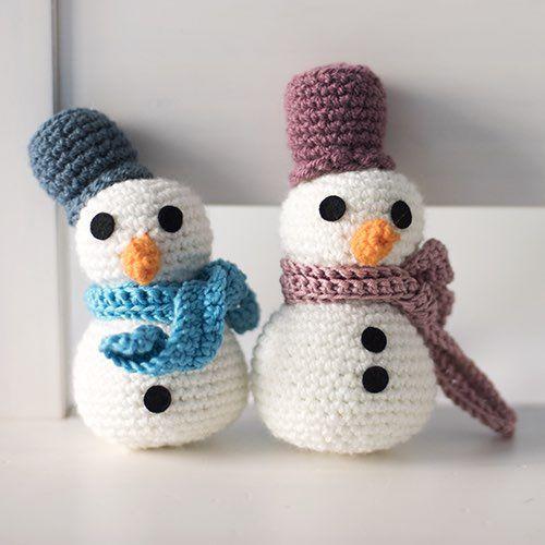 Patrón Muñeco de nieve con bufanda y sombrero | Navidad | Pinterest ...