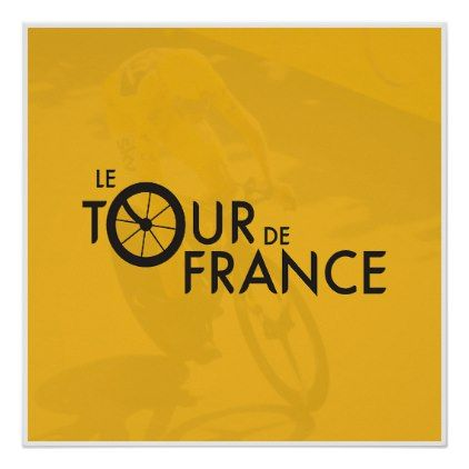 #Le Tour De France Poster - #cycling #gifts
