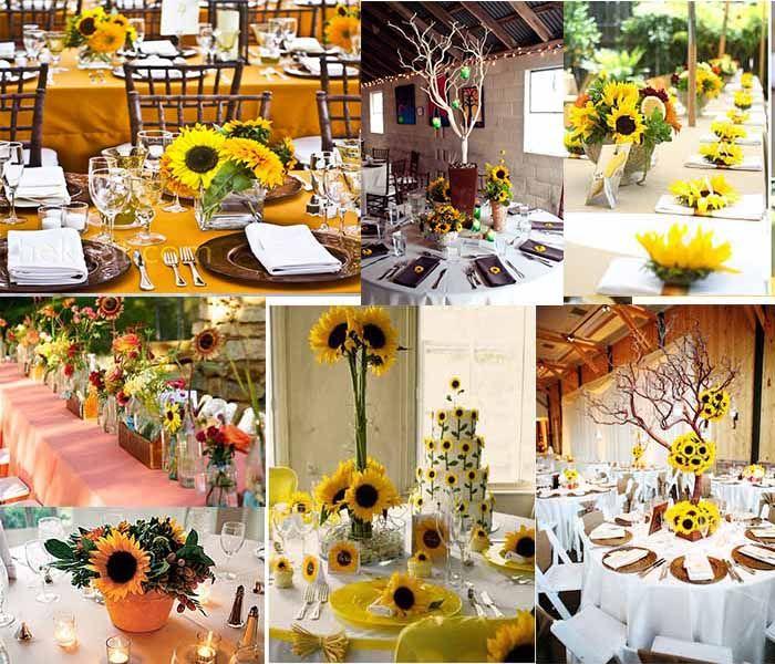 Sunflowers Fall Wedding Centerpieces