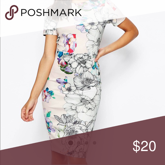 Asos dress Flower dress Asos Dresses Maxi