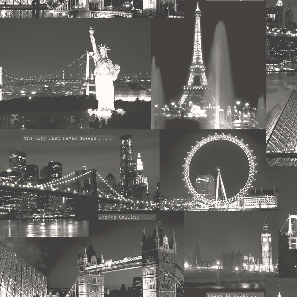 Best Night City Wallpaper Black At Wilko Com With Images 400 x 300