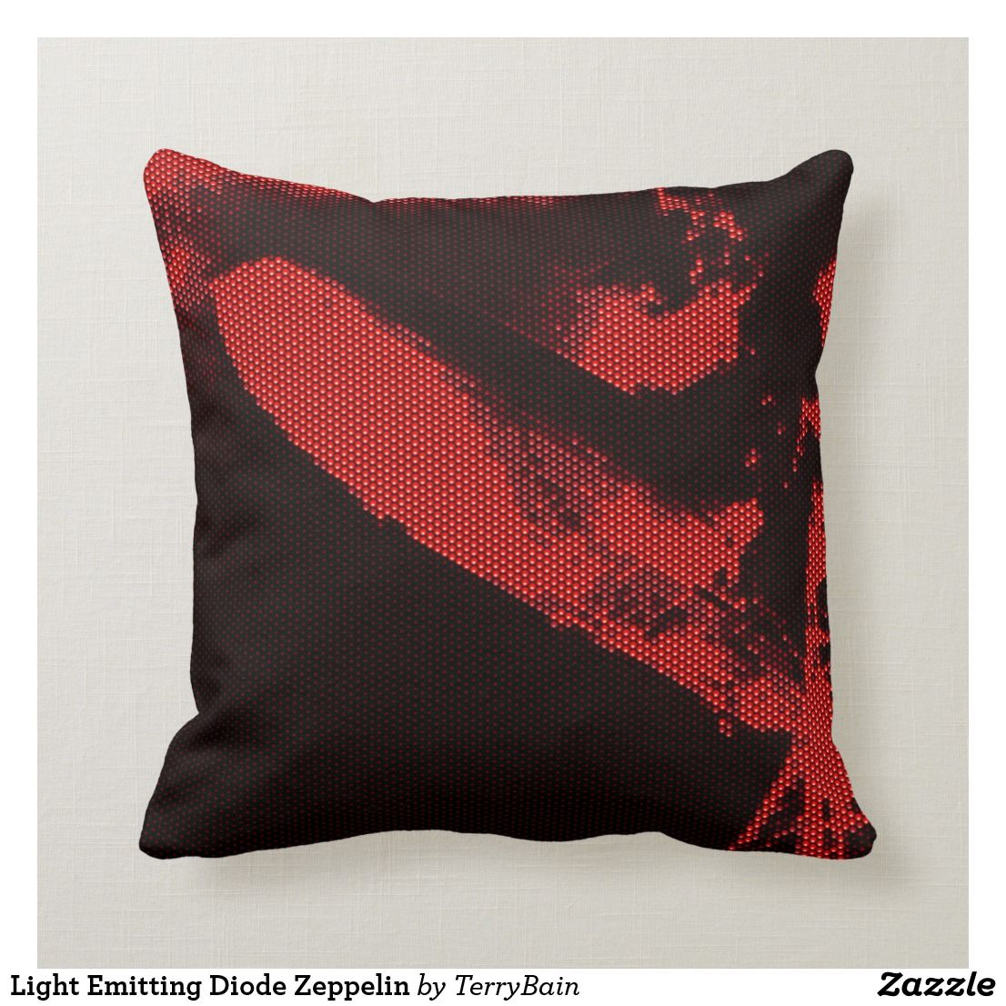 Light Emitting Diode Zeppelin Throw Pillow #lightemittingdiode