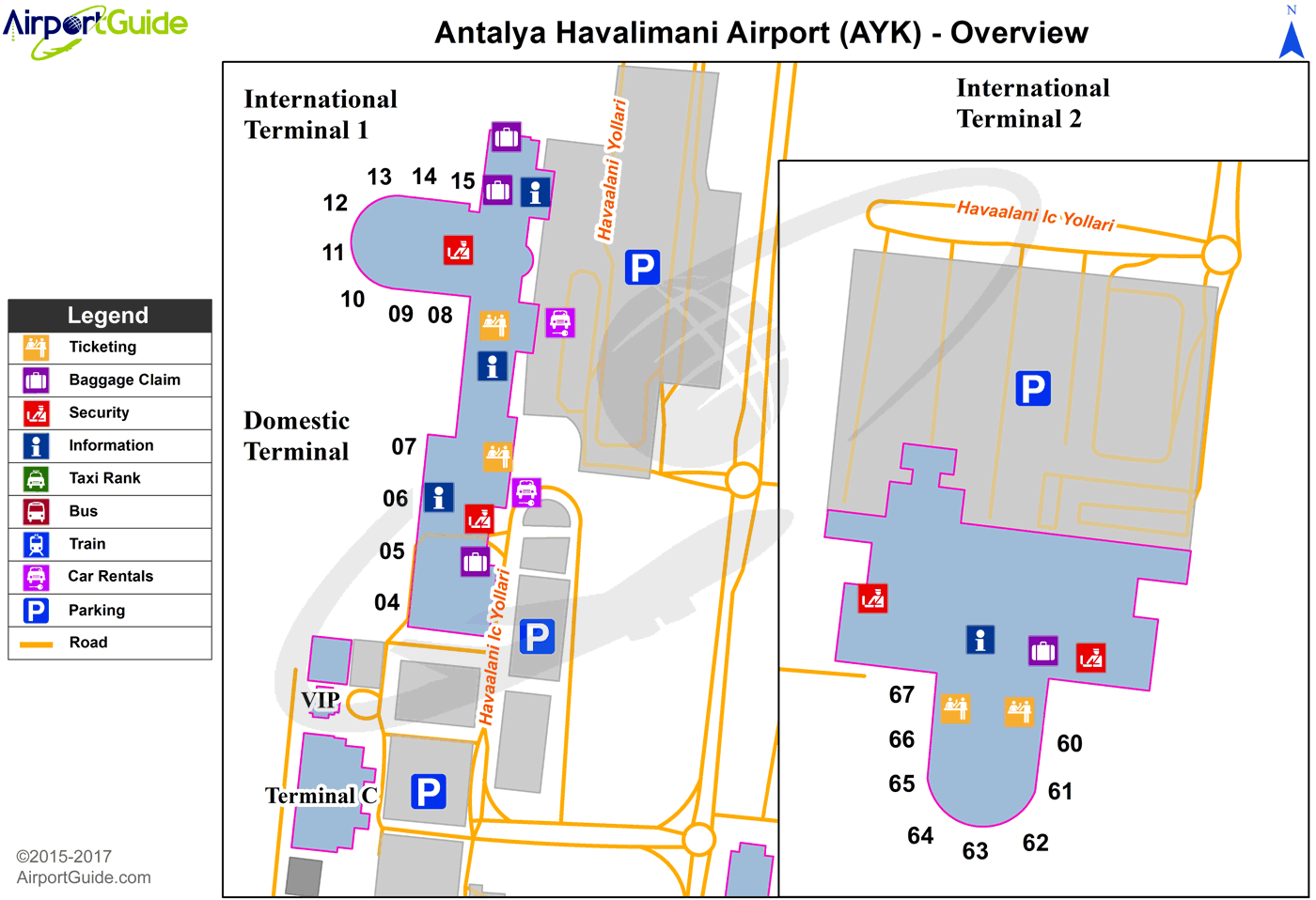 Honolulu Daniel K Inouye International HNL Airport Terminal Map