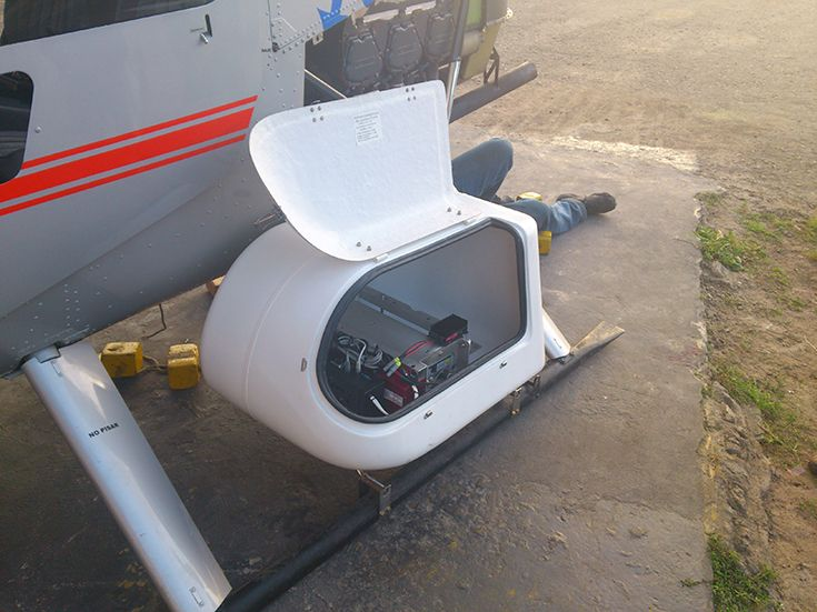 LiDAR Scanning equipment mounted on the helicopter  | LiDAR