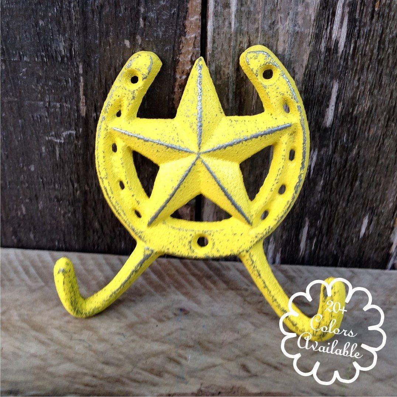 Coat Hooks - Wall Hooks - Horseshoe Art - Gifts For Mom - Wall ...