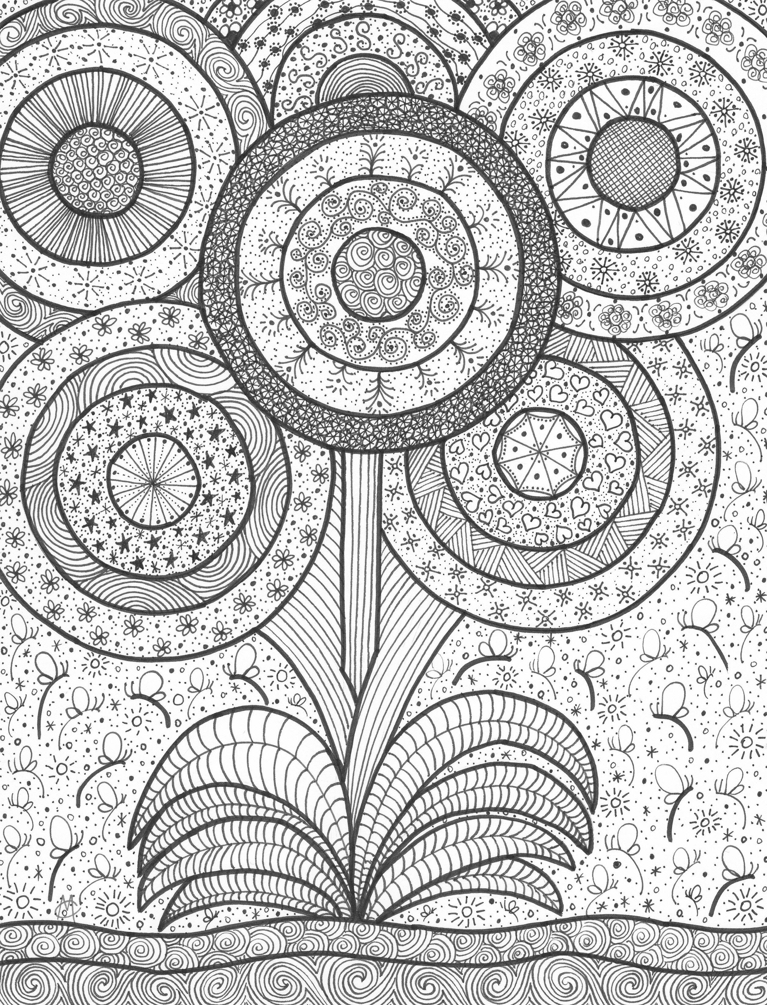 Flowers an original artwork by Cat Magness   dibujos   Pinterest ...