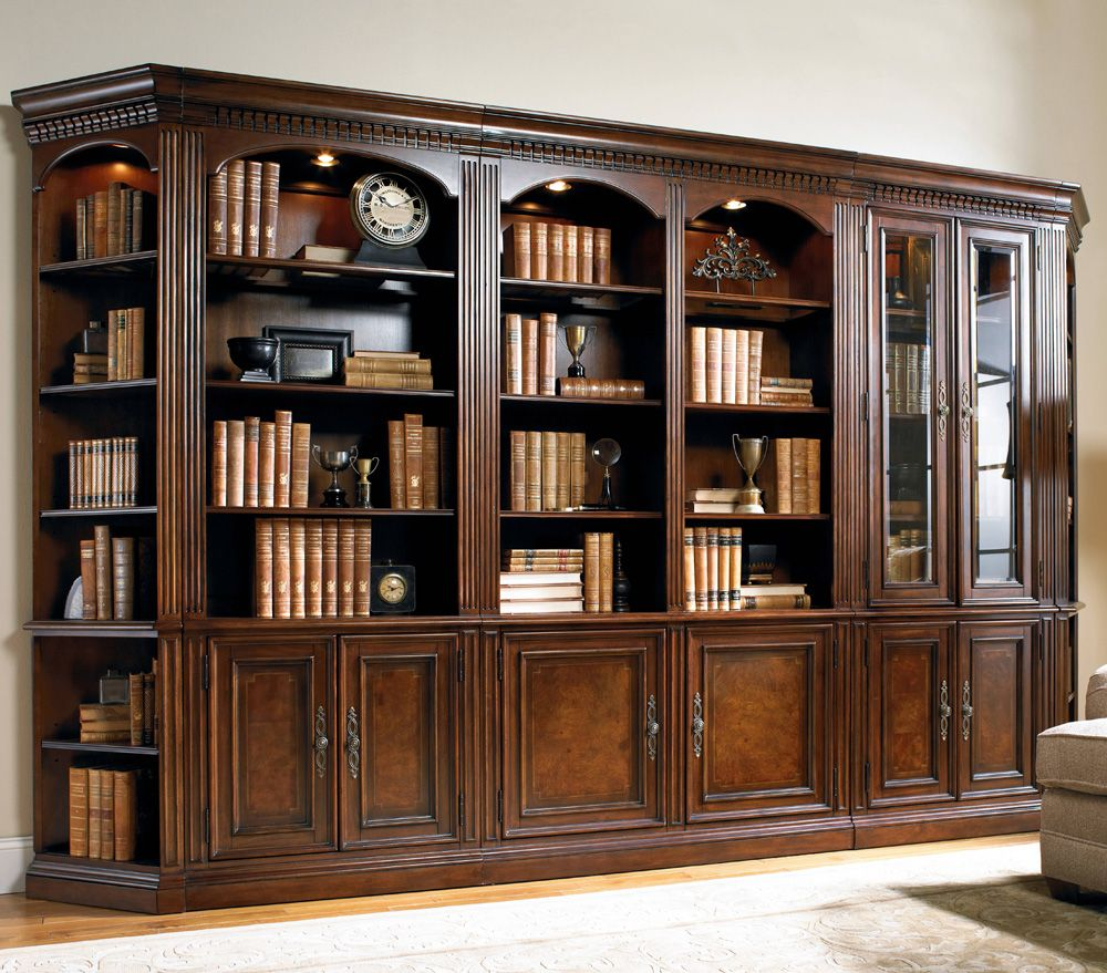 Hooker Furniture European Renaissance Bookcase Wall Unit Libraries Studys Bookcases Shelves