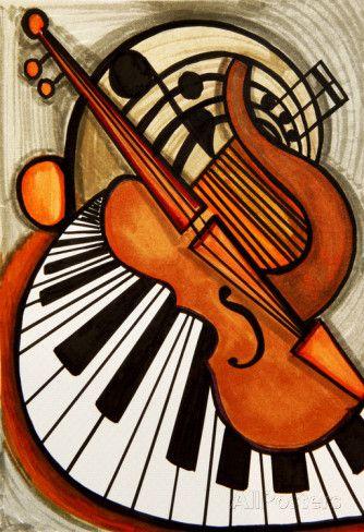 Klassieke Muziek Posters Van Loveliestdreams Bij Allposters Nl Music Artwork Music Painting Instruments Art