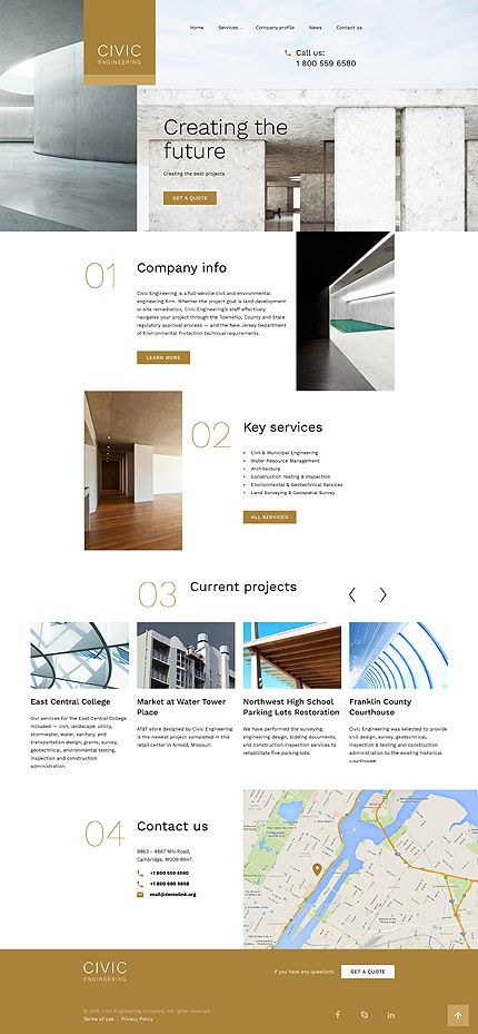Civic Engineering Company Website Template Themes Business