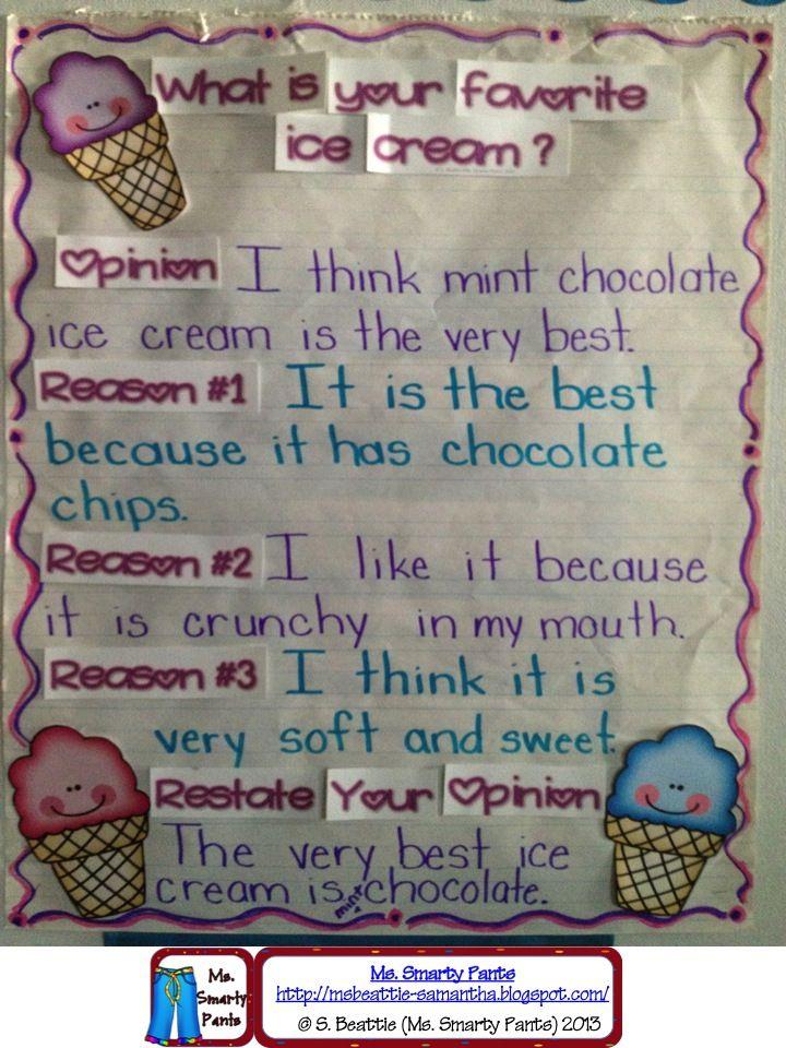 아이스크림과 관련된 글짓기이다.  각자의 생각을 표현해 보면서 주장과 이유에 대한 기본적인 유형을 배울수 있는 좋은 자료이다.