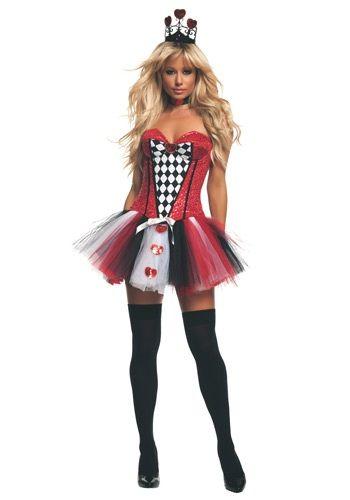 Women's Feisty Queen of Hearts Costume