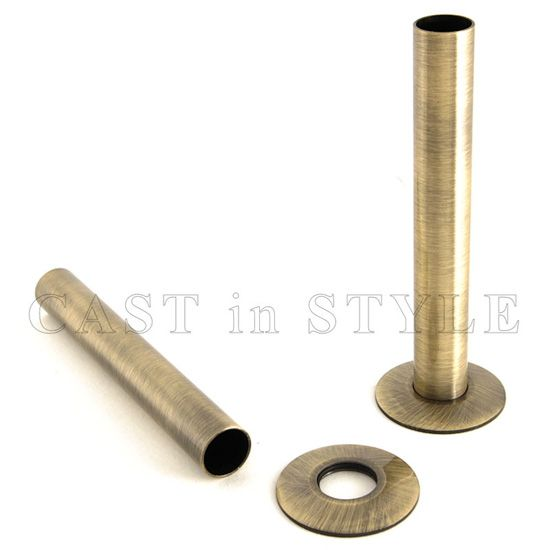 Radiator Pipe Sleeve Cover -Antique Brass - Radiator Pipe Sleeve Cover