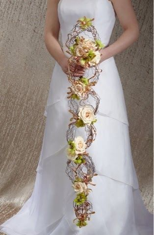 A Renaissance Romance Cascading Wedding Bouquets Cascading