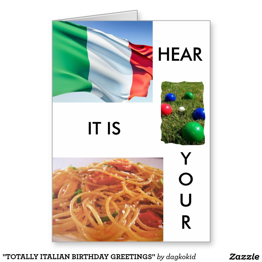 TOTALLY ITALIAN BIRTHDAY GREETINGS GREETING CARD – Italian Birthday Card