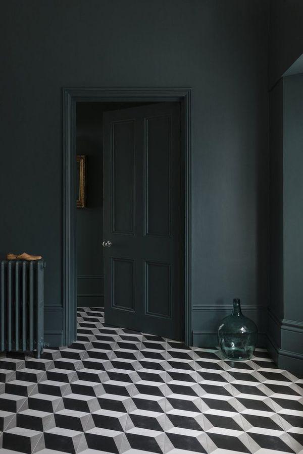 Tile Cement Floor Flooring Black