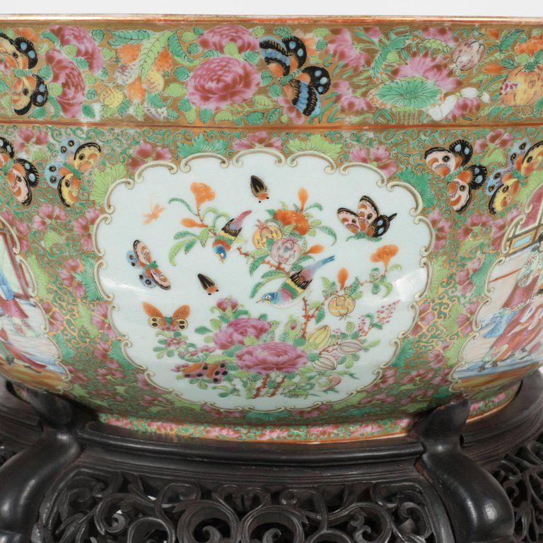 Important Mandarin Style Rose Medallion Chinese Export Ceramic Bowl #ceramicbowls