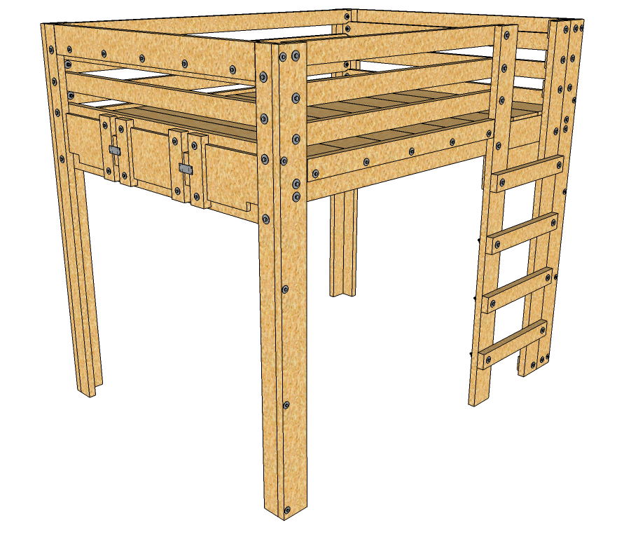 Queen Loft Bed Plans Description These Queen Loft Bed Plans Provide A Solid Foundation For An