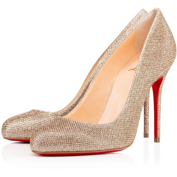 9499ecbc02b2 ... norway christian louboutin fifi 695 liked on polyvore featuring shoes pumps  christian louboutin heels louboutins gold